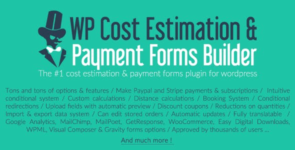 WP Cost Estimation & Payment Forms Builder (9.699) - калькулятор цен WordPress