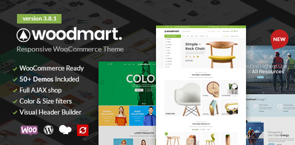 WoodMart (6.0.4) - Responsive WooCommerce Wordpress Theme