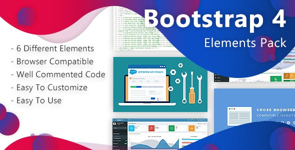 Bootstrap-4 Elements Pack  - набор элементов на bootstrap-4