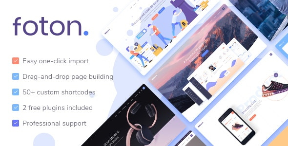 Foton (1.4) - Landing Page программного обеспечения и приложений для WordPress
