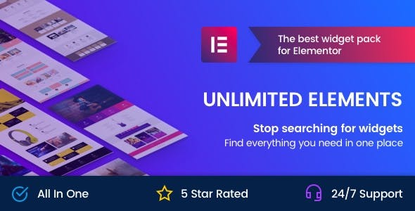 Unlimited Elements for Elementor Page Builder (1.4.24) - аддоны для Elementor Page Builder