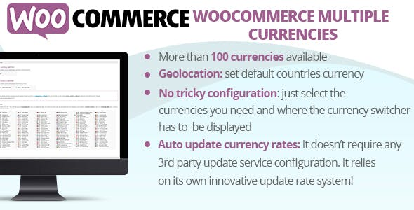 WooCommerce Multiple Currencies (4.7) - несколько валют WooCommerce