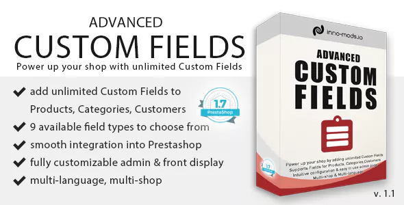 Модуль Advanced Custom Fields for Prestashop (1.0)
