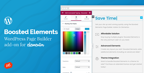 Boosted Elements (2.9) - WordPress Page Builder Add-on for Elementor