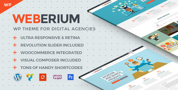 Weberium | Responsive WP Theme Tailored for Digital Agencies (1.14)