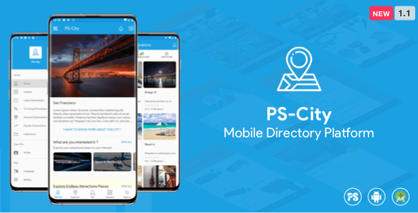 PS City Guide ( Directory/City Guide App For A City ) (1.1) - городской справочник для Android