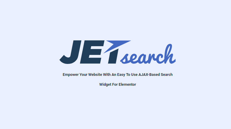 JetSearch (2.1.7) - Elementor Experience the true power of search functionality
