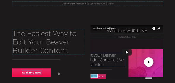 Wallace Inline (2.2.20) - Front-end content editor for Beaver Builder