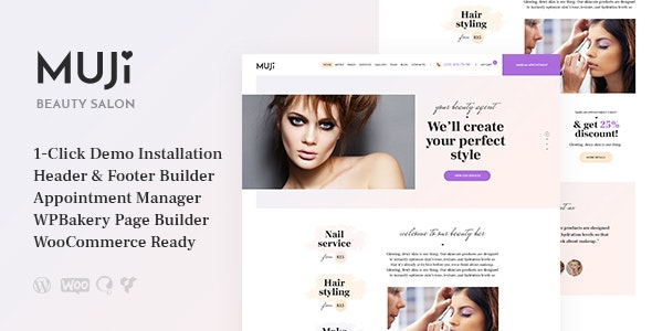 Muji (1.1.0) - Beauty Shop & Spa Salon WordPress Theme