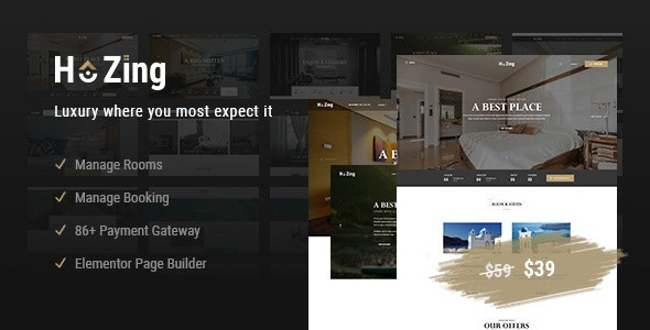 Hozing (1.0.9) - Hotel Booking WordPress Theme