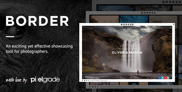 BORDER (1.9.3) - A Delightful Photography WordPress Theme