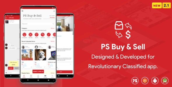 PS BuySell (2.1) - (Olx, Mercari, Offerup, Carousell, Buy Sell) Клон Classified App