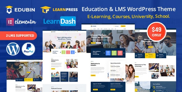 Edubin (6.9.22) - Education LMS WordPress Theme
