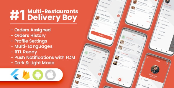 Delivery Boy For Multi-Restaurants Flutter App (1.0.0)
