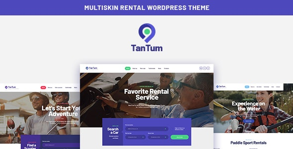 TanTum (1.1.2) - Car, Scooter, Boat & Bike Rental Services WordPress Theme