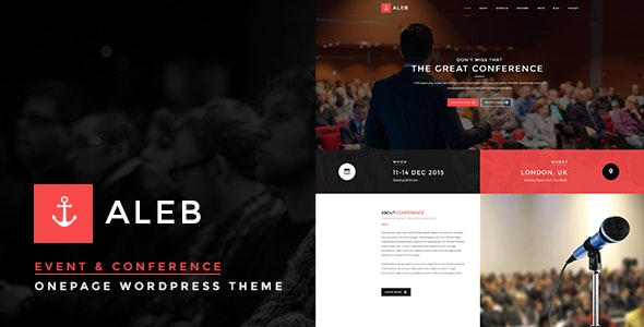 Aleb (1.3.6) - Event Conference Onepage WordPress Theme