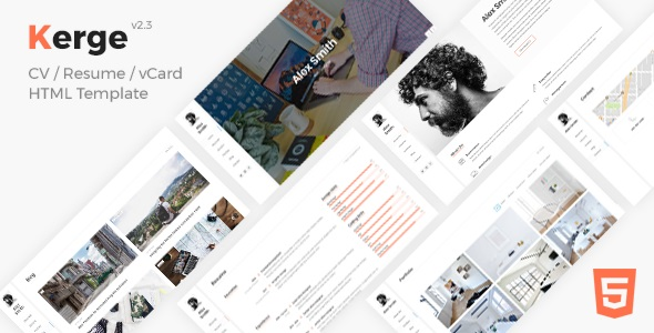 Kerge (2.4.1) - Resume / CV / vCard WordPress Theme