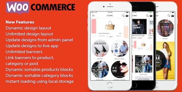 ionic 3 App for WooCommerce (8.0.1)