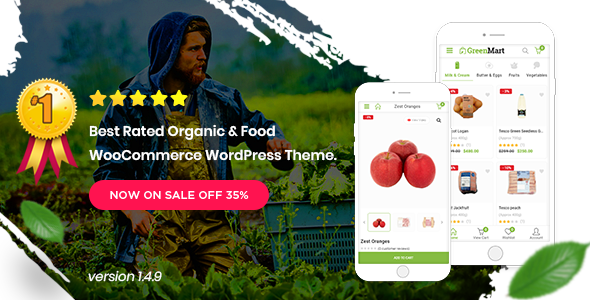 Greenmart - Organic & Food Woocommerce Wordpress Theme (3.0.10)
