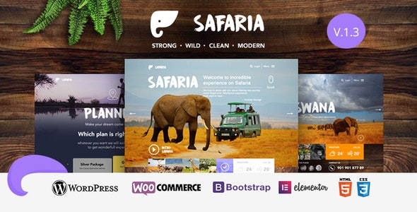 Safaria (1.3) - Safari & Zoo WordPress Theme