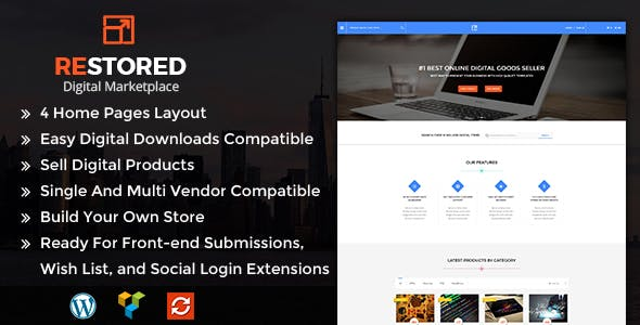 Restored MarketPlace (1.4) - MarketPlace WordPress Theme