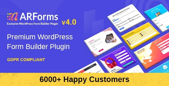 ARForms (4.0.0 Fix) - Wordpress Form Builder Plugin