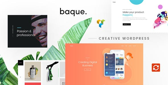 Baque (1.0.7) - Multipurpose Onepage Creative WP Theme