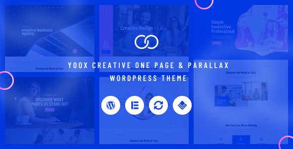 Yoox (1.0) - Creative One Page & Parallax WordPress Theme