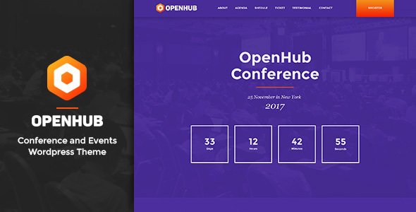 OpenHub (1.4) - A Stylish Events & Conference Theme