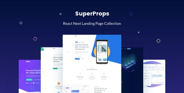 SuperProps (3.3.0) - React Next Landing Page Templates