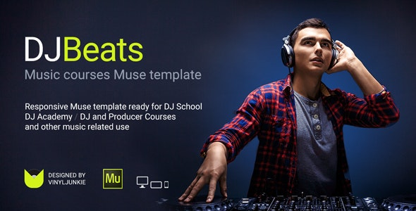 DJBeats (1.0) - DJ Courses / Scratch School / Music Academy Responsive Muse Template