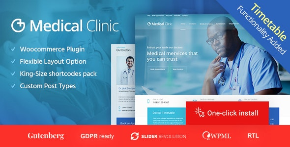 Medical Clinic (1.2.0) - Doctor and Hospital Health WordPress Theme