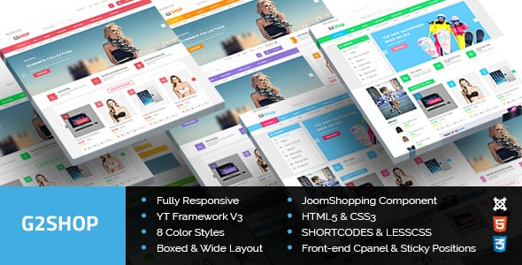 G2Shop (3.9.6) - Responsive Ecommerce Joomla Template