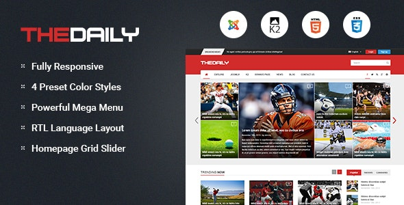 TheDaily (3.9.6) - Responsive News Portal Joomla Template