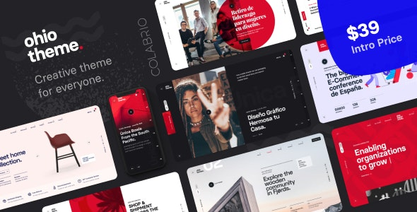 Ohio - Creative Portfolio & Agency WordPress Theme (2.3.6)