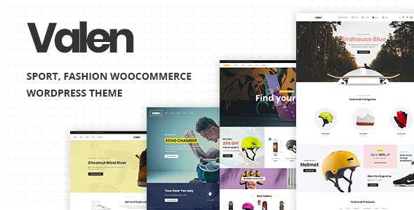 Valen (2.1) - Sport, Fashion WooCommerce WordPress Theme