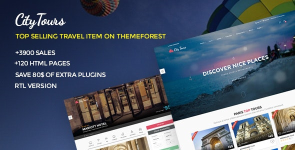 CityTours (5.1) - Travel and Hotels Site Template