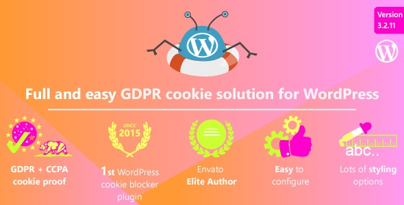 WeePie Cookie Allow (3.2.12) - Complete GDPR Cookie Consent Solution for WordPress