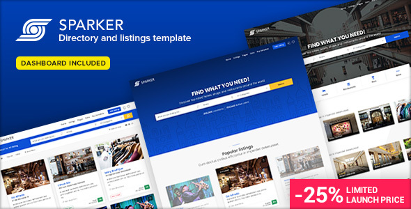 Sparker (1.5) - Directory and Listings Template