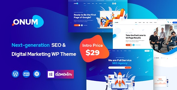 Onum (1.2.3) - SEO & Marketing Elementor WordPress Theme