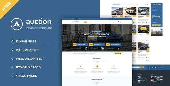 Auction (1.0) - Car Dealer & Mechanic HTML Template