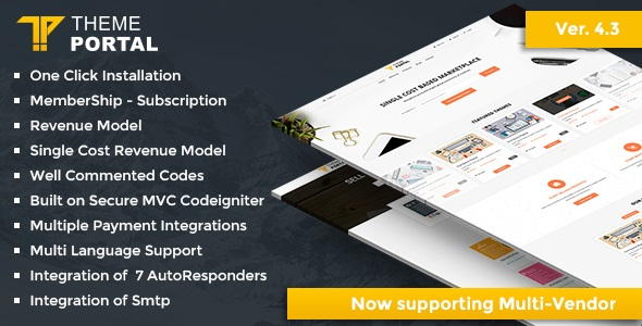 Theme Portal Marketplace (4.4) - Sell Digital Products ,Themes, Plugins ,Scripts - Multi Vendor