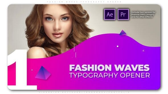 Fashion Waves Typography Opener (Premiere Pro)