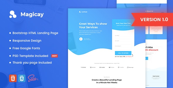 Magicay (1.0) - Business HTML Landing Page Template
