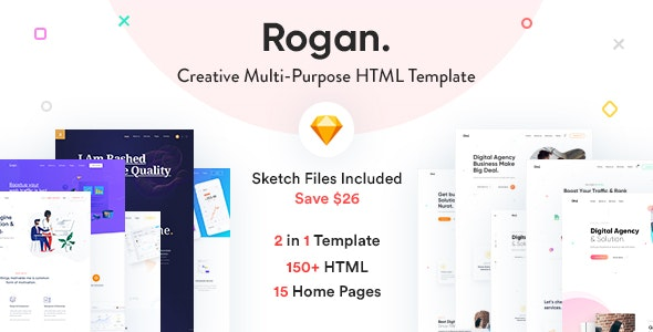 Rogan  - Creative Multipurpose HTML + RTL template
