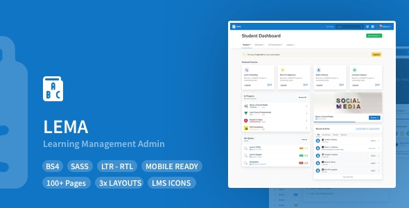 LEMA (1.1.0) - Learning Management System Admin Template
