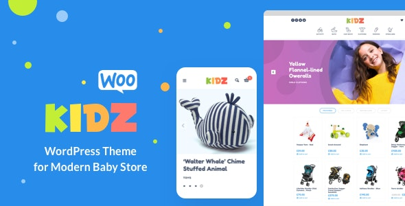 KIDZ (4.8) - Baby Shop & Kids Store WordPress WooCommerce Theme