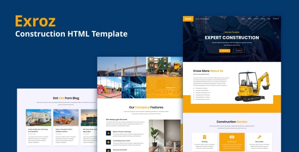 Exroz (1.0) - Construction HTML Template