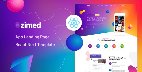 Zimed (1.0) - React Next App Landing Page Template