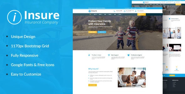 Insure (1.0) - Insurance, Finance, & Business HTML Template